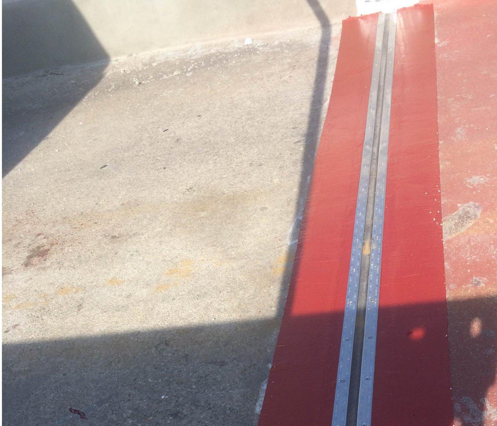 giunto di dilatazione impermeabile posato su rampa carrabile